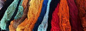 foto de fibra de alpaca de colores