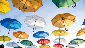 tela de paraguas que resisten el agua