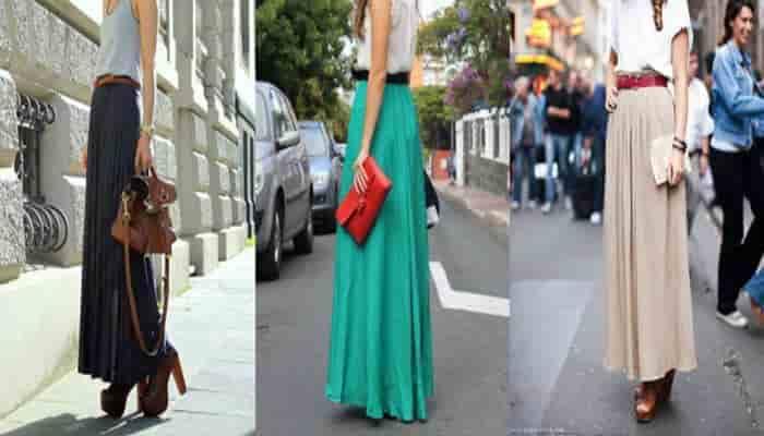 tipos de faldas largas que estilizan