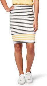 falda estilo lapicero para mujeres bajitas