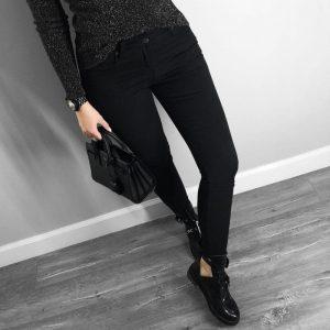 pantalon vaquero negro para mujer bajita