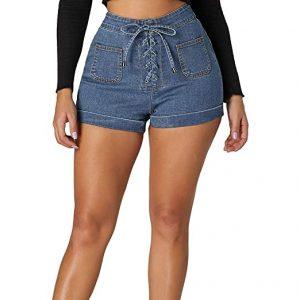 pantalones cortos de cintura alta para bajitas
