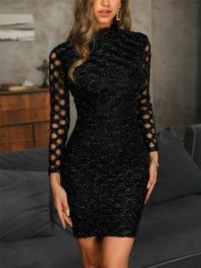 vestido elegante para bajitas