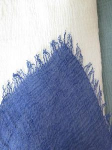 bufanda de crepe arrugado